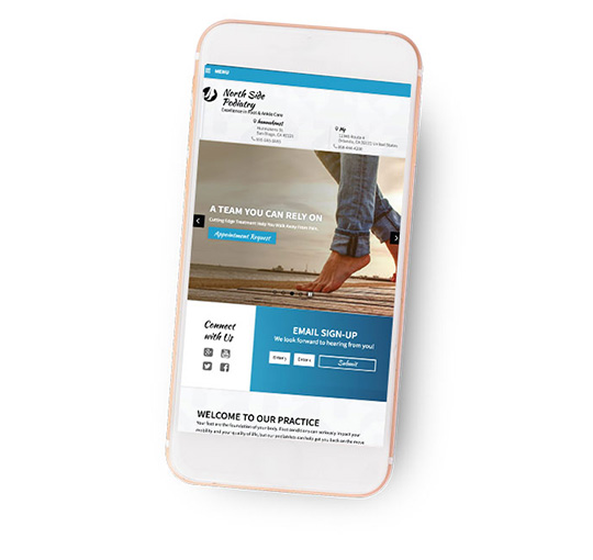 mobile website example