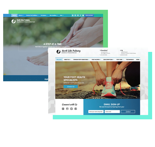 Podiatry Website Examples